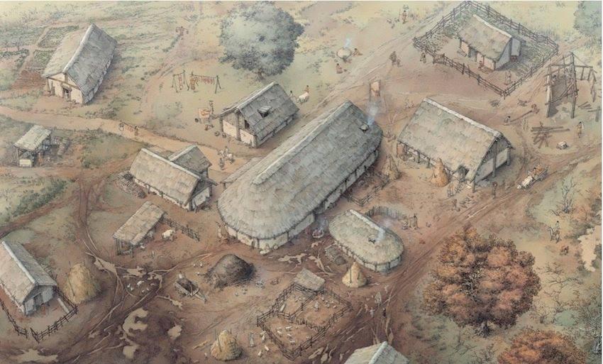 Il villaggio di IX - X secolo che sarà ricostruito nell'archeodromo
