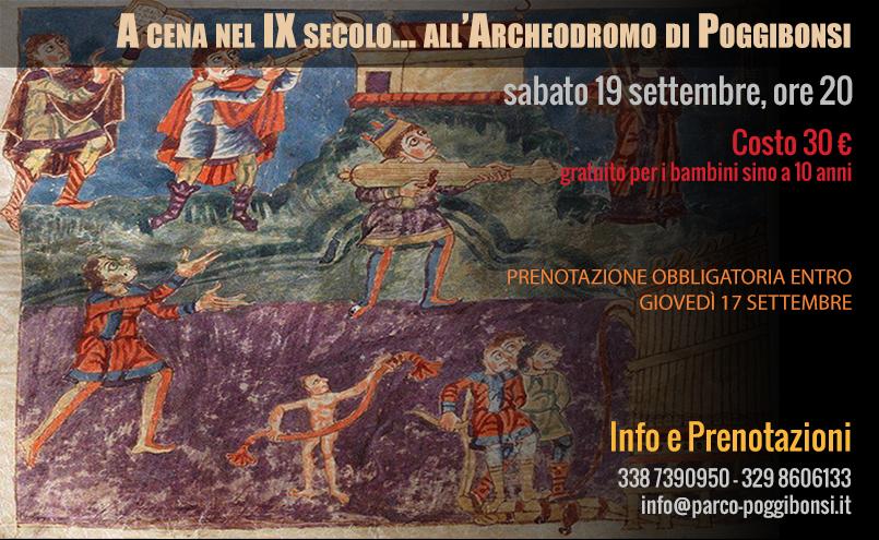 A cena nel IX secolo... all'Archeodromo di Poggibonsi (sabato 19 settembre 2015, ore 20)
