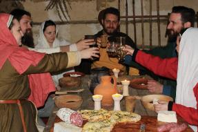 A cena nel IX secolo